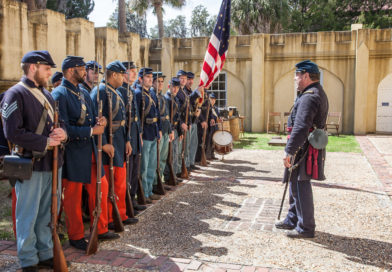 UNION TROOPS OCCUPYING THE ARSENAL GIVE LIVING HISTORY LESSONS